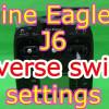 Nine EaglesのJ6送信機のリバーススイッチ設定方法