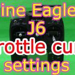 Nine Eagles J6送信機のスロットルカーブ設定方法