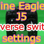 Nine Eagles J5送信機のリバーススイッチ設定方法