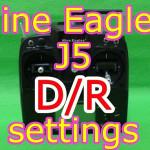 Nine Eagles J5送信機のデュアルレート設定方法