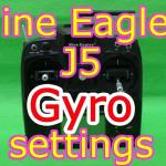 Nine Eagles J5送信機のジャイロ設定方法