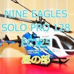 SOLO PRO 128 EC145の昼の室内練習