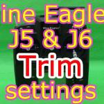 Nine Eagles J5とJ6送信機のトリム調整方法