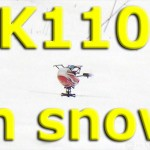 K110を雪の中で飛ばしてみた!